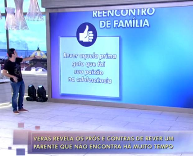 Marcos Veras brinca com histórias de reencontros familiares (Foto: Encontro com Fátima Bernardes / TV Globo)