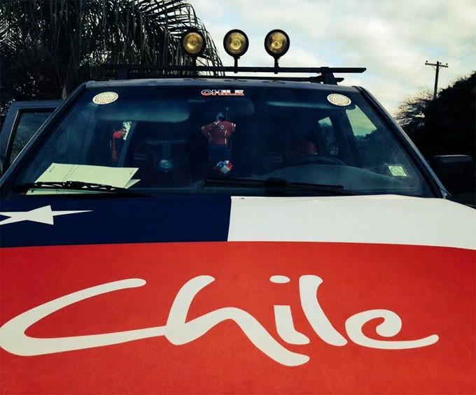 Carro com o qual a repórter do G1 viajou do Chile até Cuiabá