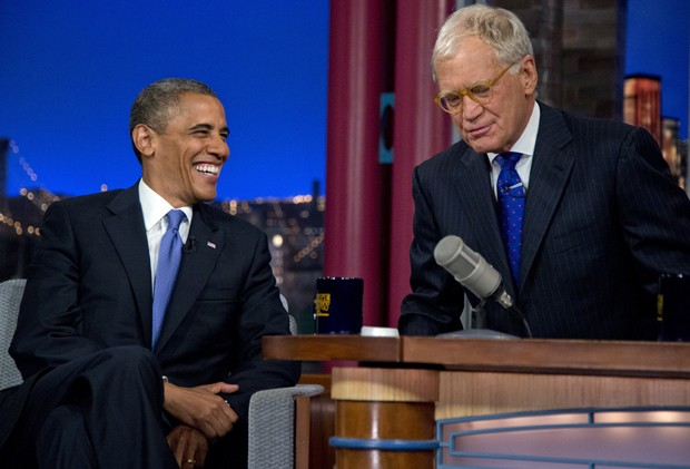 obama e david letterman (Foto: Carolyn Kaster/AP)