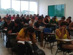 Prefeitura de Rio Branco aplicou prova para Secretaria de Educação (Foto: Veriana Ribeiro / G1)