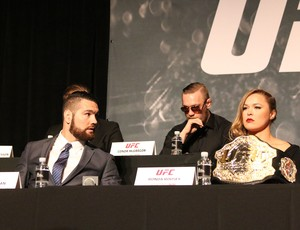 Chris Weidman e Ronda Rousey, Coletiva UFC (Foto: Evelyn Rodrigues)