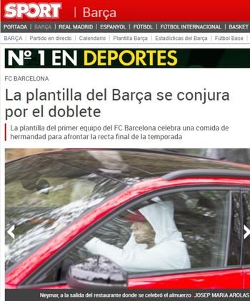 Barcelona jogadores restaurante (Foto: Reprodução/Sport)