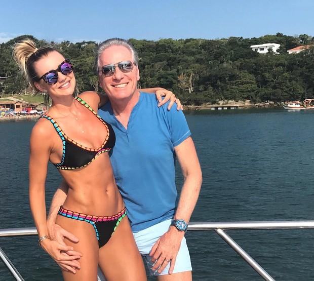 Ana Paula Siebert e Roberto Justus (Foto: Reprodução/Instagram)