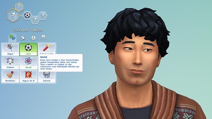 Use os traços para criar a personalidade do seu Sim (Foto: Reprodução/Tais Carvalho)