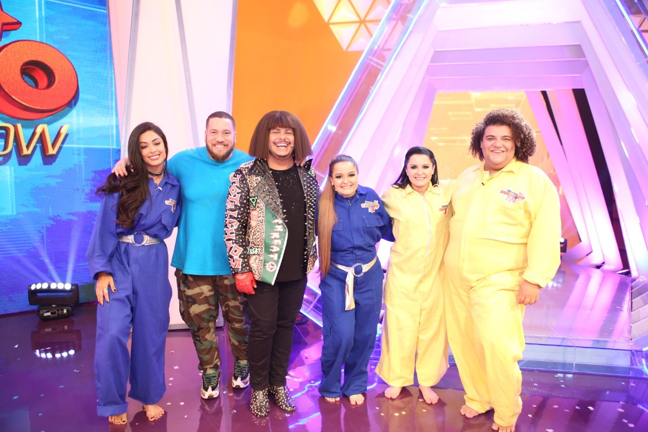 Maiara e Maraisa so as convidadas do programa de estreia de 'Ferdinando Show - O Game' (Foto: Divulgao/ Multishow)
