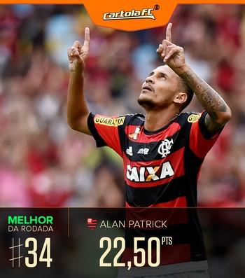 Cartola FC melhor da rodada#34 Alan Patrick (Foto: Arte/GloboEsporte.com)
