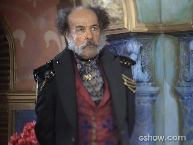Osmar Prado como o poderoso Coronel Epa (Foto: Meu Pedacinho de Chão/TV Globo)