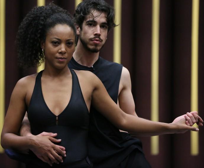 Negra Li em ensaio do 'Dança' (Foto: Isabella Pinheiro / Gshow)