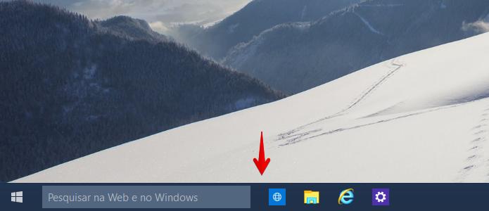 Botão de atalho removido da barra de tarefas (Foto: Reprodução/Helito Bijora)
