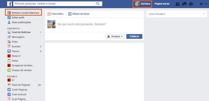 Acesse seu Facebook pelo computador e abra o perfil (Foto: Reprodução/Barbara Mannara) (Foto: Acesse seu Facebook pelo computador e abra o perfil (Foto: Reprodução/Barbara Mannara))