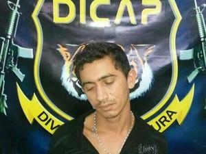 O detento Fernando Oliveira foi recapturado nesta seguda-feira (18) (Foto: Divulgação/Dicap)