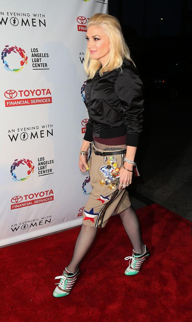 Gwen Stefani é fã do patche (Foto: AKM)