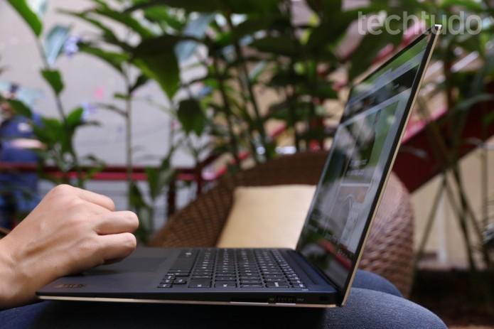 Lateral fina do Dell XPS 13 (Foto: Raíssa Delphim/TechTudo)