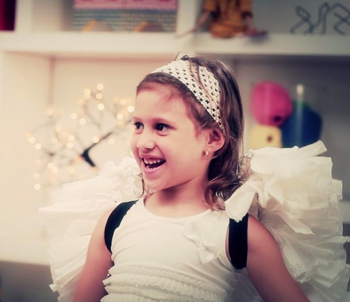 Fantasia infantil de anjinho para o carnaval (Foto: Gshow)