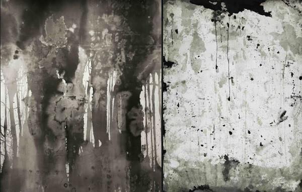 Dois dos 14 trabalhos de Paula Klien, feitos à base de nanquim para sua nova exposição (Foto: Paula Klien)