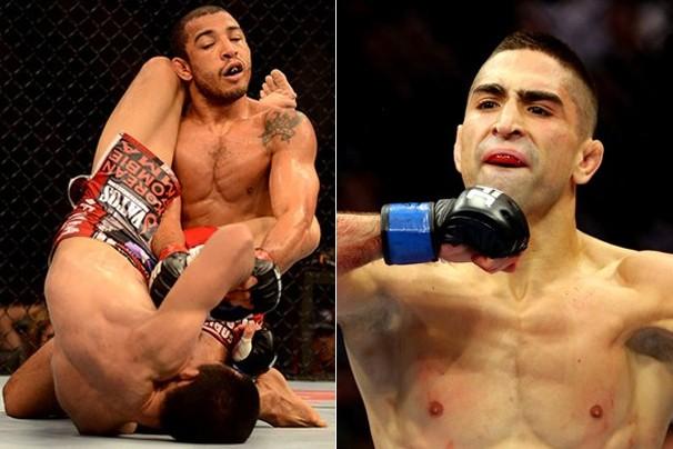 O brasileiro José Aldo e o americano Ricardo Lamas lutam neste sábado, dia 1, e a Globo exibe (Foto: Getty Images)