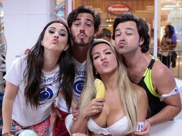 Tatá Werneck grava novas cenas na Casa de Vidro do BBB  (Foto: Felipe Monteiro / TV Globo )