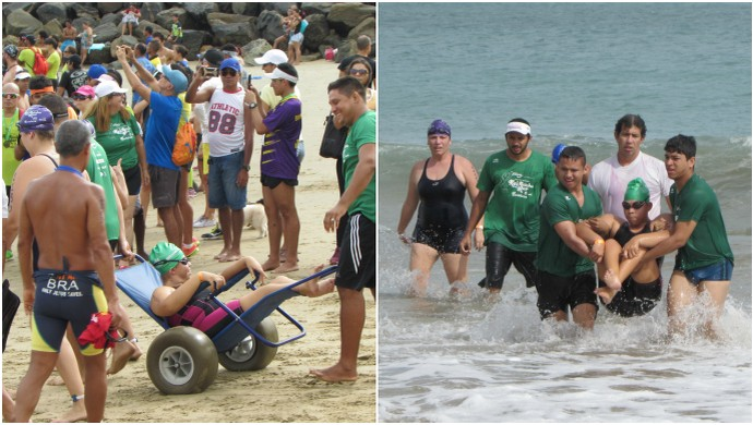 Ana Raquel, cearense, deficiente, maratona, aquática, Fortaleza (Foto: Juscelino Filho)