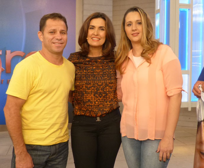 Foto dos bastidores do Encontro (Foto: Viviane Figueiredo Neto/ Gshow)