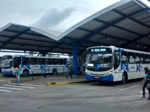 Terminal de Ônibus de Suzano (Foto: Jenifer Carpani/G1)