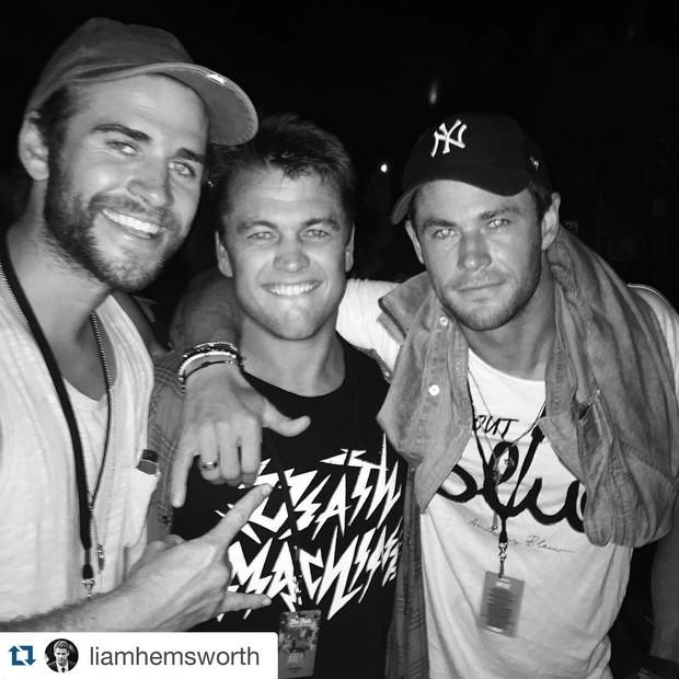 Os irmãos Hemsworth (Foto: Reprodução/Instagram)