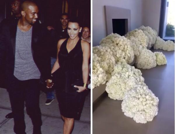 As flores enviadas por Kanye West para clebrar seus três anos de casamento com Kim Kardashian (Foto: Instagram)