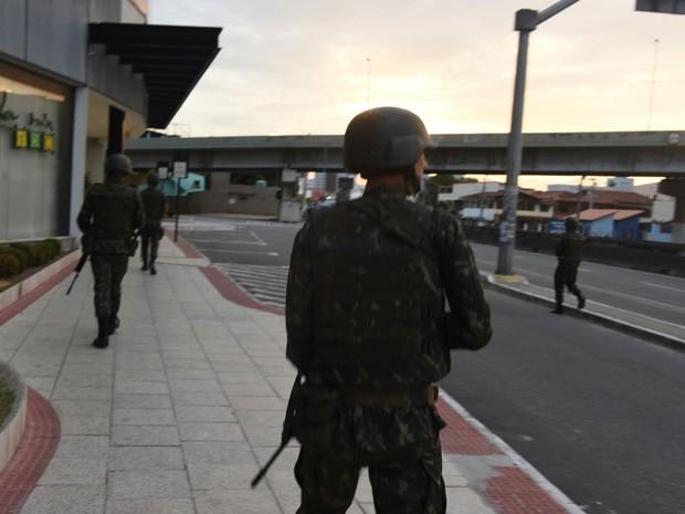 Exército atua nas ruas da Grande Vitória (Foto: Divulgação/ Sesp-ES)
