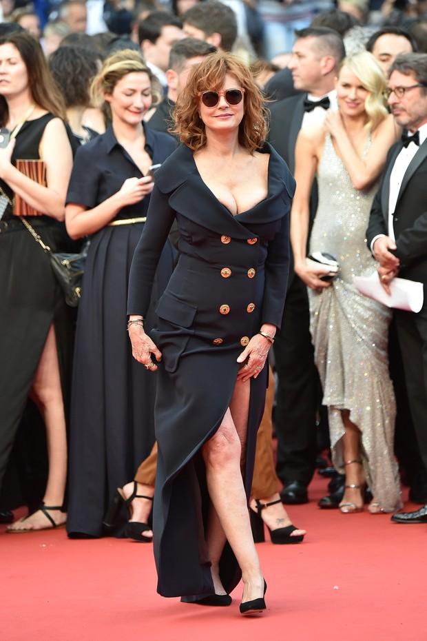 Susan Sarandon na première do filme Jogo do Dinheiro, no Festival de Cannes (Foto: AFP)