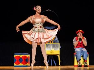 O palhaço e a bailarina é apresentada em João Pessoa no sábado (30) (Foto: Divulgação/Bruno Vinelli)