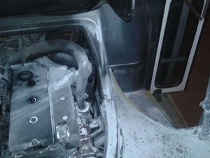 Ônibus incendiado em Petrolina (Foto: Mariana Landim / Arquivo pessoal)
