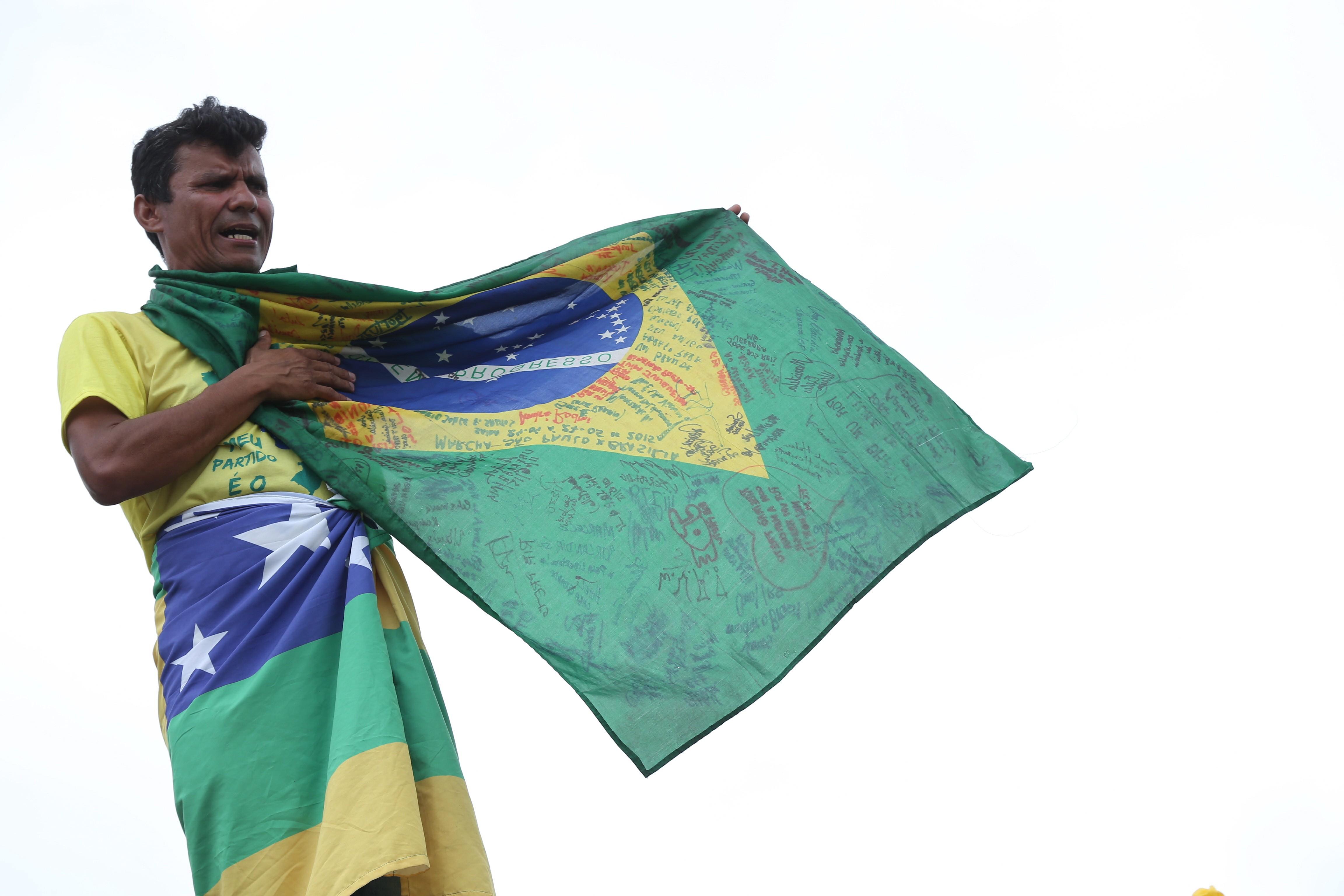 Manifestante em Brasília