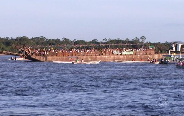 Procissão para São Pedro reúne religiosos em Roraima (Foto: Bom Dia Amazônia)