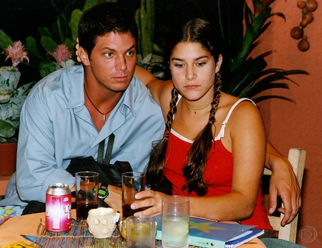 Marios Frias e Priscila Fantin como o Casal Rodrigo e Tati na Malhação 'Múltipla Escolha' (Foto: Memória/TV Globo)