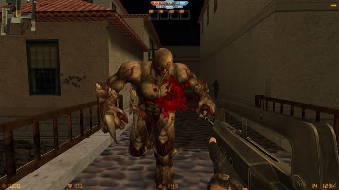 Lute contra mortos vivos em CS Nexon: Zombies (Foto: Divulgação/Nexon)