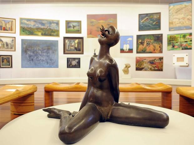 Detalhe de um dos salões onde será exposta parte da coleção do marchand e colecionador de arte Jean Boghici (Foto: Alexandre Durão/G1)