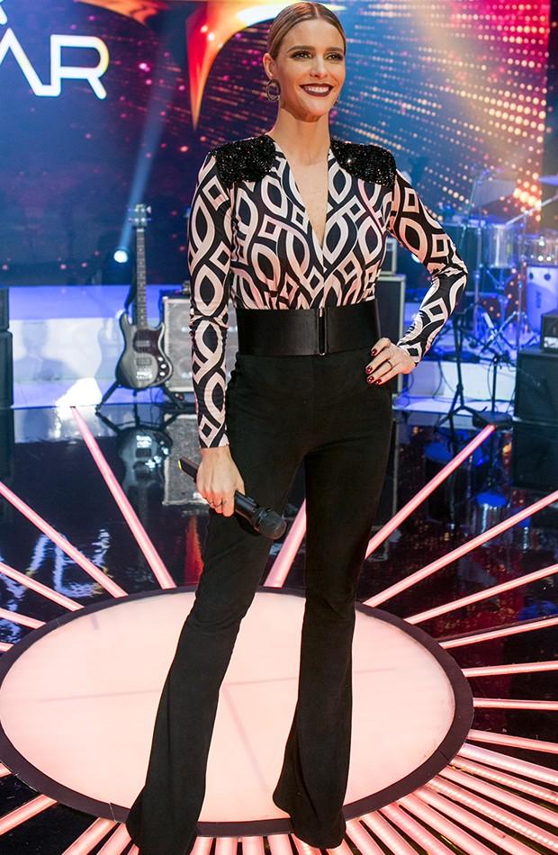 Fernanda Lima em look toureira para o último SuperPasse (Foto: Isabella Pinheiro / Gshow)