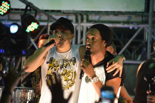 Wesley Safadão e Ronaldinho Gaúcho (Foto: Felipe Souto Maior/Agnews)