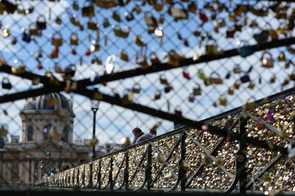 Cadeados em Paris (Foto: Getty Images)