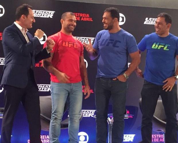 No The Ultimate Fighter Brasil 4 os times de Maurício Shogun e Rodrigo Minotauro vão se enfrentar (Foto: Reprodução/Rede Globo)