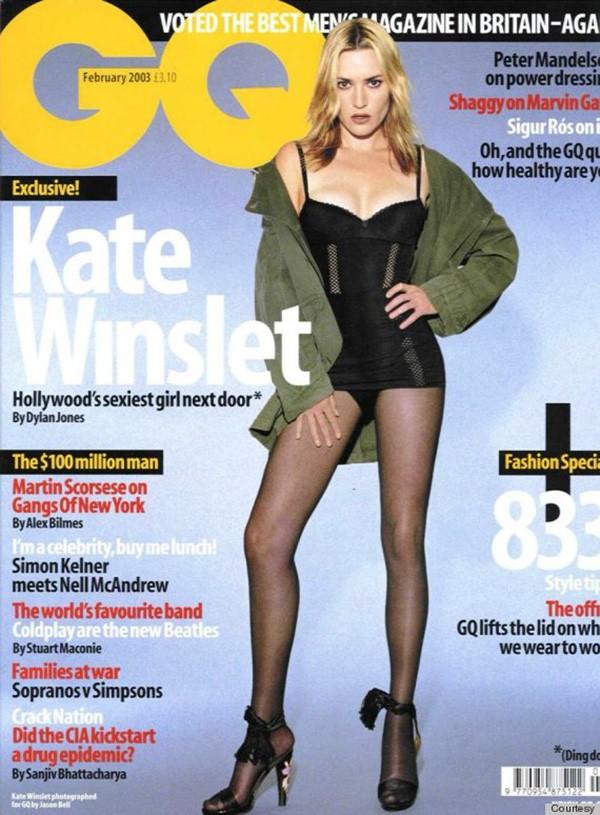 Kate Winslet na capa da GQ em 2003 (Foto: Divulgação)