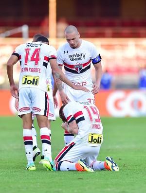 Lyanco comemora gol São Paulo X América-MG