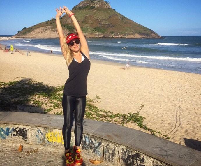 Monique Alfradique revela que adora praticar crossfit (Foto: Arquivo Pessoal)