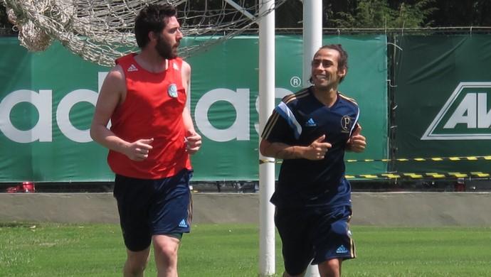 Bruno e Valdivia Palmeiras (Foto: Marcelo Hazan)