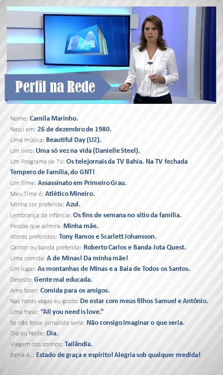 Perfil da Rede com Camila Marinho (Foto: Divulgação)