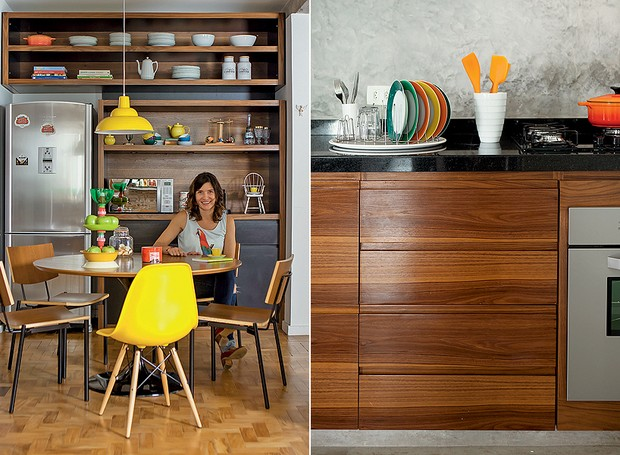 cozinha-mesa-bancada (Foto: Edu Castello/Editora Globo)