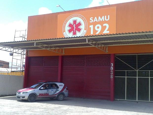 Base do Samu que fica localizafa no bairro da Serraria (Foto: Waldson Costa/G1)