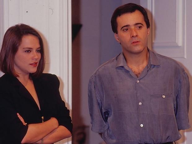 Tony Ramos e Viviane Pasmanter  (Foto: Acervo Globo)