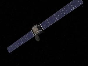 Rosetta está em estado de hibernação profunda há dois anos e meio para guardar energia (Foto: BBC)