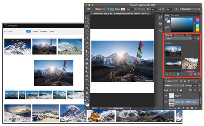 Um banco de imagens dentro do Photoshop (Foto: Divulgação/Adobe)