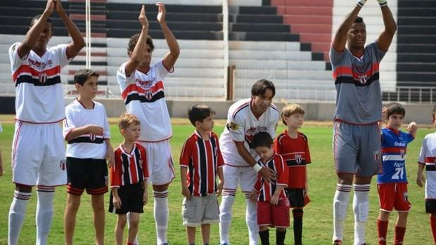Time do Botafogo-SP (Foto: Rafael Martinez / Botafogo FC)